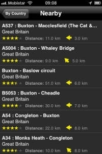 Android App Motorcycle Routes Screenshot 5